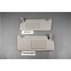 2003 Ford Focus Sun Visor Set with Covered Mirrors & Straps