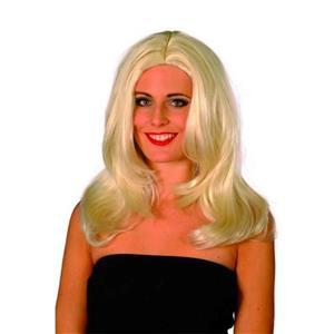 Smiffy's Fever Women's Platinum Blonde Starlet Superstar Wig