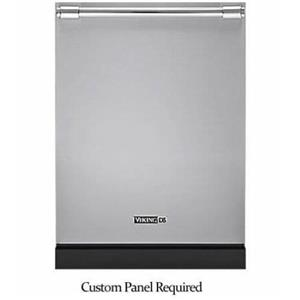 """Viking FDW301WS 24"""" 6 Wash Cycles Fully Integrated Dishwasher Custom Panel Image"""