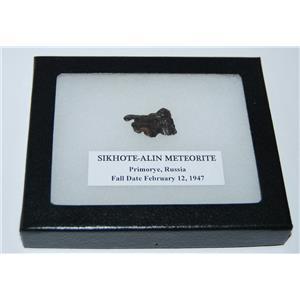 SIKHOTE-ALIN METEORITE 7.4 gm w/ Dipslay Box  & COA MDB #1747 11o