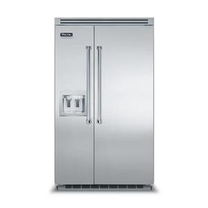 """Viking Professional Series 48"""" External Ice Built-in SS Refrigerator VCSB5482DSS"""