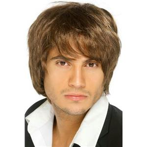 Men's Boy Band Brown Shaggy Wig