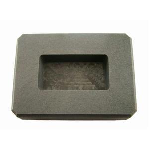 50 Gram Gold Bar High Density Graphite Ingot Mold Loaf Copper-25 Gram Silver Bar