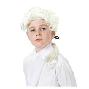 Heroes In History George Washington Disguise Colonial Wig and Jabot Costume Kit