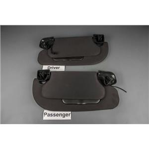 2007-2014 Ford Expedition Navigator Sun Visor Set Lighted Mirrors Double Panels