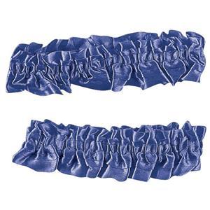 1920's Blue Satin Old Fashioned Garter Flapper Arm Bands Armbands
