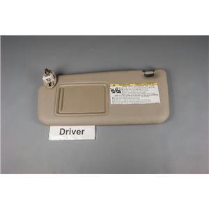2006-2012 Toyota RAV4 Driver Side Sun Visor w/ Covered Lighted Mirror & Panel