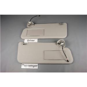 2009-14 Dodge Ram 1500 2500 3500 Sun Visor Set Lighted Mirrors Adjust Bars