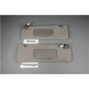 2004-2008 Toyota Solara Coupe Only Sun Visor Set with Covered Lighted Mirrors