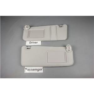 2009-2014 Toyota Venza Sun Visor Set with Covered Lighted Mirrors and Strap