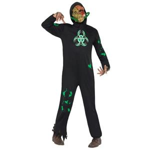 Men's Biohazard Man Zombie Smiffy's Adult Costume Size Large