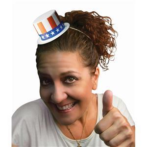 Forum Novelties Mini Plastic Patriotic Top Hat