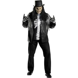 Cryptic Rocker Plus Size Adult Costume Skull Slash XXL 50-52