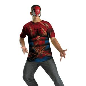 Disguise Men's Spiderman Shirt and Mask Alternative Costume Kit XL 42-46