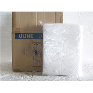 Uline Polypropylene S-15374W-2X Lab Coat with No Pockets  White, Large Box/25