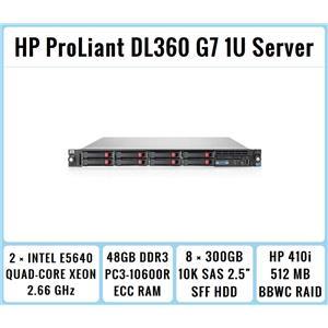 HP ProLiant DL360 G7 1U Server 2×Quad-Core Xeon 2.66GHz + 48GB RAM + 8×300GB SAS