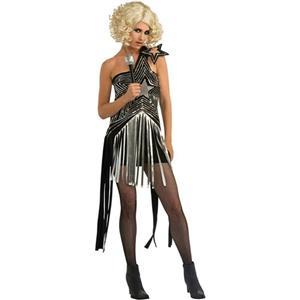 Rubie's Women's Lady Gaga Pop Star Sexy Fringe Costume Dress Standard up to 12