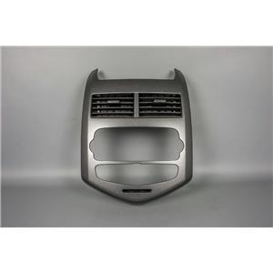 2012 Chevrolet Sonic Radio Dash Trim Bezel includes Vents