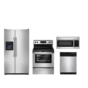 Frigidaire Kitchen Package FFSS2614QS FFEF3048LS FFBD2400KS FFMV164LS NEW