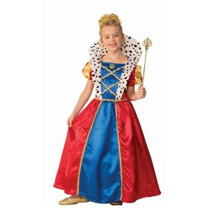 Girls Royal Queen Child Costume Dress Size Small 4-6