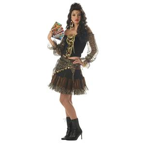 California Costume Sexy Madame Destiny Gypsy Adult Costume Size Medium 8-10