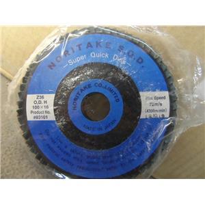 "Noritake Abrasives 4"" Flap Sanding Disc 36 Grit New Case Of Qty 100"