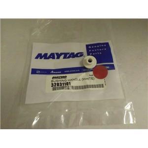 MAYTAG WHIRLPOOL STOVE 32031101 WHITE DOOR HANDLE BUSHING NEW
