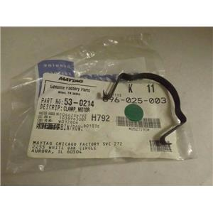 MAYTAG WHIRLPOOL DRYER 53-0214 660658 MOTOR CLAMP NEW