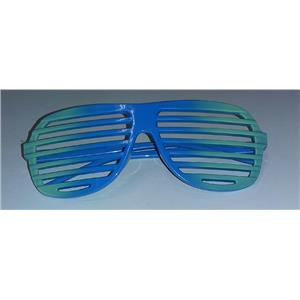 Green to Blue Ombre Two Tone Aviator Blinds Shutter Shades Glasses