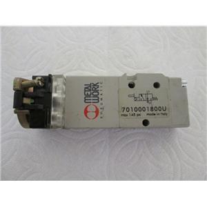 Metal Work 7010001800U Pilot-assisted, Hand-Operated Valve w/Panel Actuator