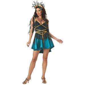 Incharacter Women's Sedusa Deluxe Adult Sexy Medusa Costume Small