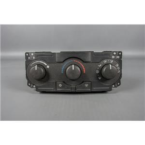 06-10 Chrysler 300 Climate Control Unit / Panel w/ Rear Defrost non-Chrome Knobs