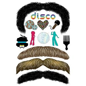 StacheTATS The Signature The Disco Mustache Temporary Facial Tattoos Assortment