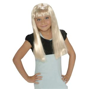 Rubie's Long Blonde Hair Child Rock Star Costume Wig