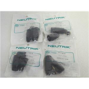 (4) NEW  Neutrik NC3MX-B 3-Pole XLR Male Cable Connector w/Black Metal Housing