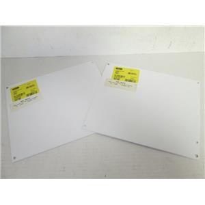 "*NEW* (2) Hoffman A12P10 14 Gauge Steel Panel for Junction Boxes, 10.75"" x 8.88"""