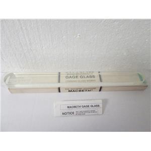 """NEW Macbeth A9 Type A High Pressure Borosilicate Flat Gage Glass, 13-3/8"""" Length"""