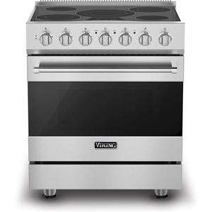 """Viking 3 Series 30"""" 4.7 cu. ft. Self-Clean Stainless Electric Range RVER33015BSS"""