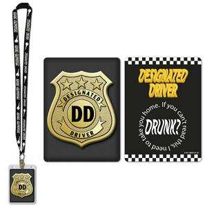 Designated Driver Party Pass Lanyard with Card and Card Holder Costume Accessory