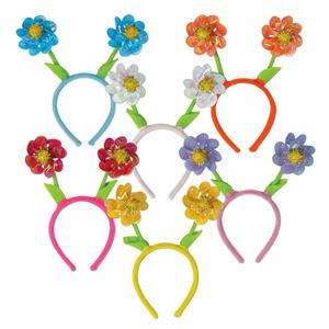 Flower Pinwheel Boppers Headband Assorted Colors