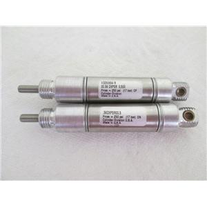 "(2) Parker/Lin-Act .56DXPSR0.50 Crimped Round Body Pneumatic Cylinder,9/16"" Bore"