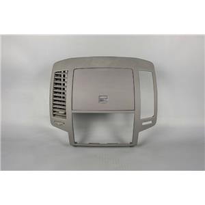 2005 Nissan Altima Radio Dash Trim Bezel with Left Vent and Storage