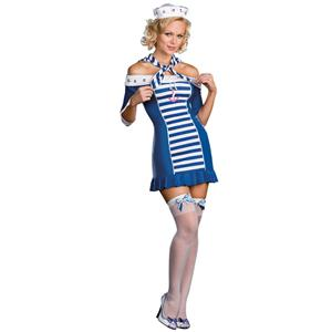 Dreamgirl Women's Ship Shape Sailor Sweetie Sexy Adult Costume Size Large 12-14