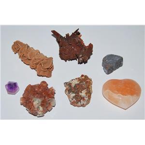 Mineral Collection Morocco - Pyrite, Aragonite, Desert Rose, More #2100