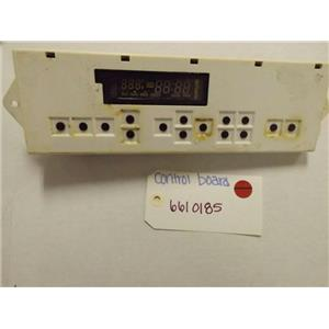 WHIRLPOOL STOVE 6610185 CONTROL BOARD (BLACK BUTTONS) USED (NO OVERLAY)