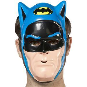 DC Comics Blue Batman PVC Half Vintage 80's Ben Cooper Plastic Face Mask