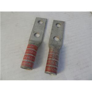 Burndy YA31-2N Two Hole Lug Qty 2 New