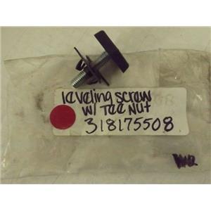FRIGIDAIRE STOVE 318175508 LEVELING SCREW W/ TEE NUT NEW