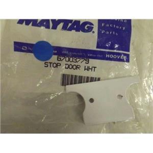 MAYTAG WHIRLPOOL REFRIGERATOR 67003779 DOOR STOP (WHITE) NEW