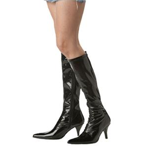 California Costumes Women Sexy Black Patent Fashion Pointed Toe Boots Large 9-10